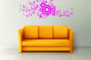 sticker colorat floral 06