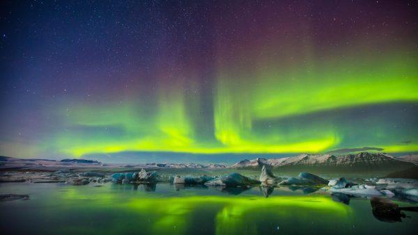 sticker aurora boreala